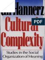 Hannerz Cultural Complexity
