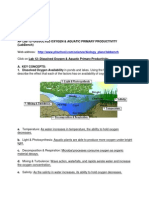 dissolved oxygen  primary prod activity