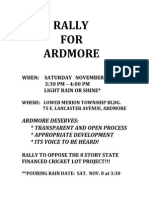 Rally for Ardmore, PA