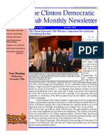 Clinton Democratic Club October 2014 Newsletter