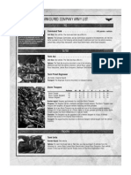 Armoured Company Armylist