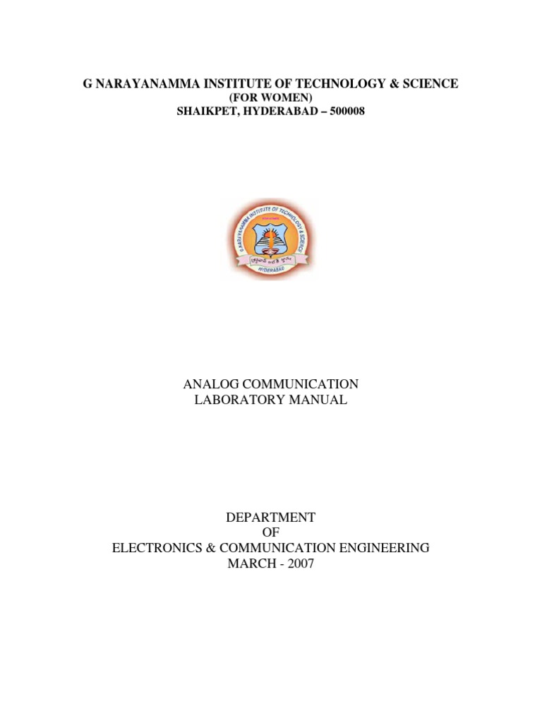 G Narayanamma Institute Of Technology Science Detector Radio Lm565 Fsk Demodulator Circuit Design Electronic Components Circle Frequency Modulation
