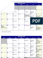 2014 Dallas Mat Club Wrestling Calendar
