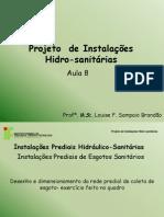 Projeto Inst Hidro - AULA 08 Esgoto Desenho e Dimensionamento.pdf