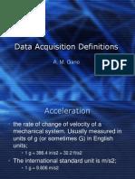 Data Aquisition Definfition