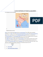 List of States and Union Territories of India by Population