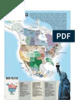 Norte America - Mapa Politico