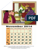 Coloring Page-3D Old Testament Calendar