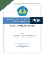 Tugas 6 Matematika Teknik 1 Matriks Metode Cramer