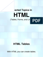 HTML Tables, Forms, And Links
