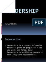 Chapter 6 Leadership