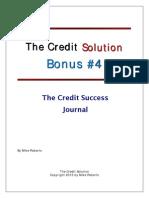 Credit Success Journal