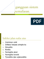 Askep Gangguan Sistem Pernafasan