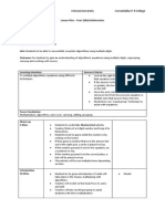 lesson plan maths multiplication portfolio