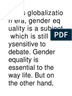 Gender Equ