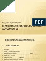 5.-ENTREVISTA PSICOLOGICA para NIÑOS Y ADOLESCENTES.pptx