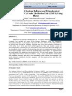 Simulation of Kaduna Refining and Petrochemical Company (KRPC) Crude Distillation Unit (CDU I) Using Hysys