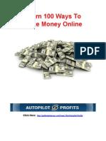 100 Ways to Make Money Online
