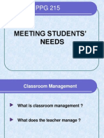 PPG 215 Meeting Student Needs.ppt