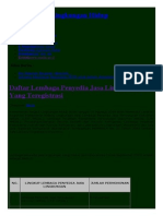 Daftar Lembaga Penyedia Jasa Lingkungan Yang Teregistrasi _ Kementerian Lingkungan Hidup