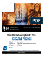 State of Outsourcing 2013 Exec Findings Hfs
