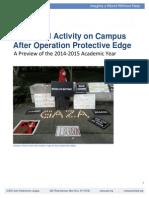 Campus Anti Israel Activity Report 2014-10-24