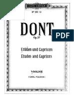 Dont Etudes Caprices Violin