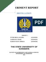 laporan resmi distilasi, Kimia Dasar 1