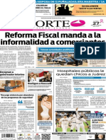 Periódico Norte edición impresa del día 27 de octubre de 2014