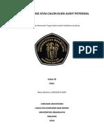 Kasus 1 prak audit analisis atas calon klien