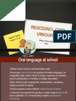 Assessing Oral Language
