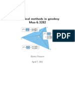 Statistical Methods in Geodesy