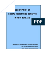 MSD Description of Social Assistance Benefits