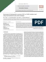 Assessment of Intergranular Corrosion (IGC) in 316(N) Stainless Steel Using Electrochemical Noise (en) Technique