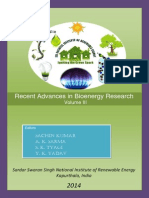 Recent Advances in Bioenergy Research