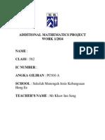 Add Maths Project Form 5 SPM