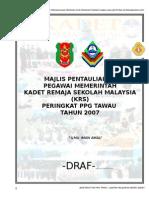 Majlis Pentauliahan Pegawai Memerintah KRS 2007 Peringkat PPG Tawau