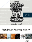 Post Budget 2009 10 Analysis