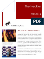 Heckler Newsletter 2013-2014