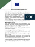 Schengen Visa Information for Applicants