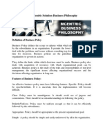 Mutlicentricsolutions Business Philosophy