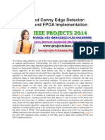A Distributed Canny Edge Detector Algorithm and FPGA Implementation