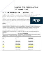 Optimal Capital Structure Techniques