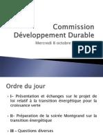 Commission Développement Durable 08.10.2014