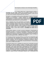 Manifesto Sobre o Acesso Livre a Informacao Cientifica