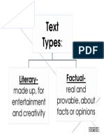 text types- black and white