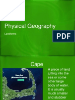 physical geography- land landforms