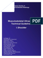 shoulder ultrasound guildelines