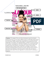 Textual Analysis Cover Page- Glamour