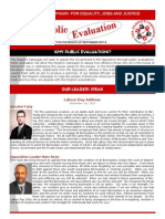 Newsletter - Sept 2014 Public Evaluations